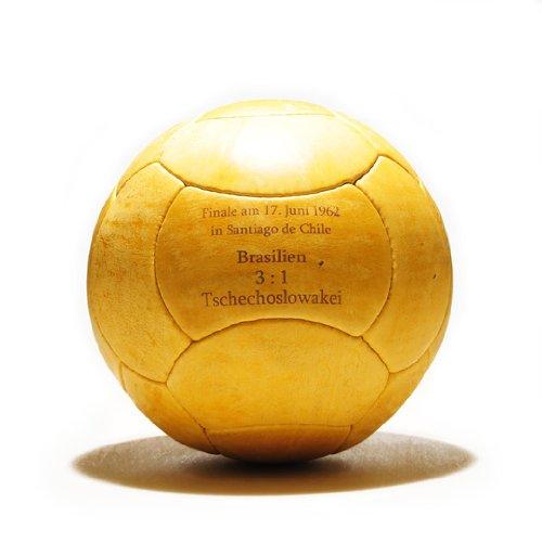 WM Fußball Retro - LEDERBALL 1962 mit Aufdruck -