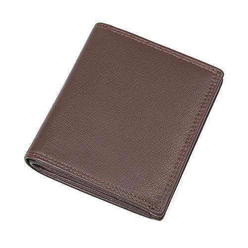 Circlefly Herren Leder Geldbörse Europa und die Vereinigten Staaten kurz Mode Kuh Tasche Multi-Karte positionieren abriebfest wasserdicht