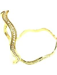 WMC JEWELS Bollywood Stylish One Gram Gold Plated Bangle Bracelet Set Kada For Women And Girls