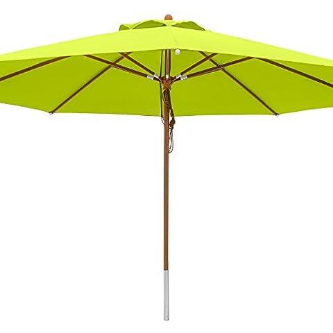anndora® Sonnenschirm Marktschirm Gastronomie ø 4 m rund - mit Winddach Apfelgrün / Limette