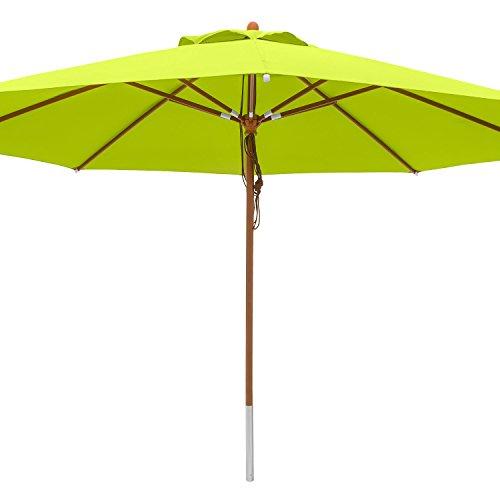 anndora® Sonnenschirm Marktschirm Gastronomie ø 4 m rund - mit Winddach Apfelgrün/Limette (Sammeln Wörter)