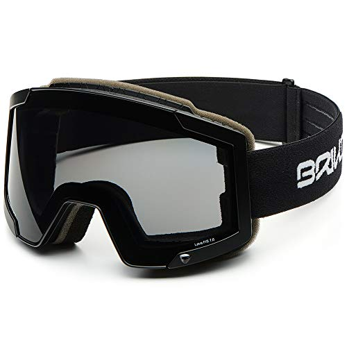 Briko Lava Fis 7.6 Skibrille, Unisex Erwachsene Einheitsgröße Schwarz, matt