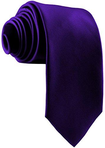 ADAMANT Designer Krawatte, breit, verschiedene Farben - TOPQUALITÄT - Moderne uni Krawatten für Business und Alltag - Lila/Violett