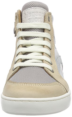 Bisgaard Unisex-Kinder Shoe with Laces High-Top Silber (155 Shiny silver)