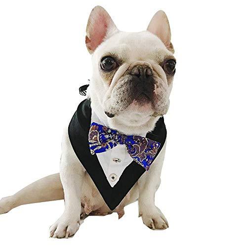 Red Kontakte Kostüm - Hundehalsband Formale Katze Hund Fliege verstellbare Hund Bandana Pet Neckwear Krawatte Halstuch Kragen - Red Handsome Small Middle Large Pet Fliege Kostüm Outfit for Hochzeitsfeier Geschenk Geburtsta