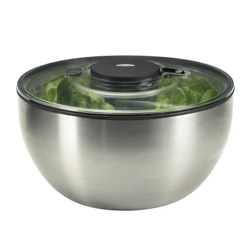 Oxo 1071497 - Centrifugador de ensalada en acero inoxidable