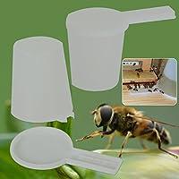 Kicode Alimentador Entrada Apicultura El plastico Bebedor de Abeja Cuenco Panal