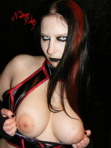 Nadine Cays Hot Gothic Boobs Poster 90x60cm - Erotic Gothic Girl - Gothic Girl