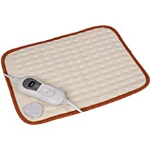 Guoyajf Húmedo Y Seco Almohadilla De Calefacción Eléctrica con Tecnología De Calor Ultra Rápido para Espalda