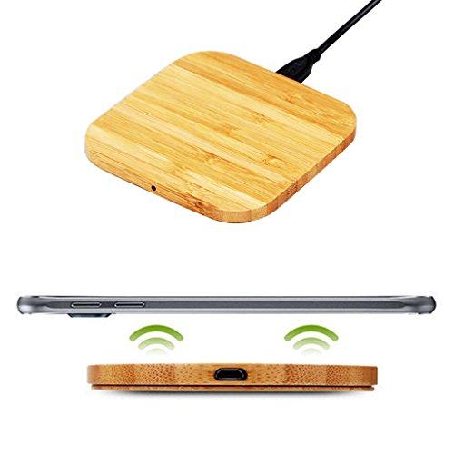 Goldfox® Wireless Fast Charger Pad, Tragbares Drahtlos Ladegerät Schnellladestation für Apple iPhone 8/ 8 Plus/ iPhone X, Samsung Galaxy Note 8/S8/S8 Plus/S7/S7 Edge und alle Qi Fähige Geräte