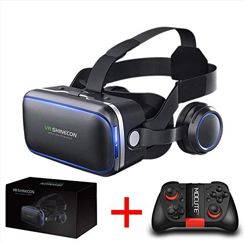 XXXVV VR Brille für 3D Filme Video Movie Game Brille 3D VR Brille Kompatibel mit 4,0~6,0 Zoll Smartphones,D