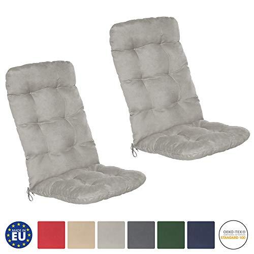 Beautissu Flair HL - Set de 2 Cojines para sillas de balcón...