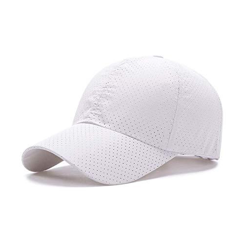 Weiß Mesh Cap (ZEARE schnell trocknend wasserdicht atmungsaktiv Hut Polyester Baumwolle Sonnenhut leichte Baseballmütze Sport Cap Unisex (weiß Mesh))