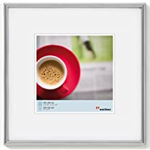 walther design KS330H Galeria picture frame, 11.75 x 11.75 inch (30 x 30 cm), silver