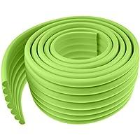 FiveSeasonStuff versatile–2metro rotolo in schiuma anti shock protettivi bordi di Angoli di muri, dei mobili, dei Pali, Super Morbida E Flessibile sicurezza prove per neonati e bambini, Vert Polyvalente Rouleau Mousse LM075