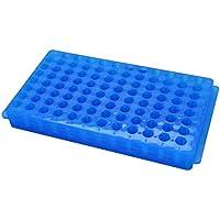 Caja de puntas de pipeta de pipeta Suministros de laboratorio rectangulares Azul 96 Posición 1pcs