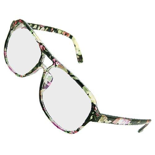 Blumenmuster in Mehrfach vergütete Linsen Plano Brille für die Dame