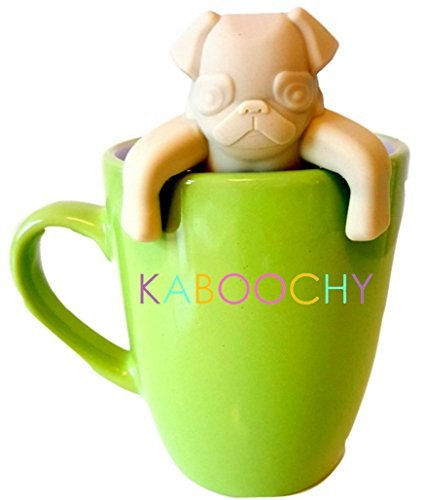 kaboochy-pug-life-silicone-tea-infuser-cute-loose-leaf-tea-strainer-beige-color-by-kaboochy