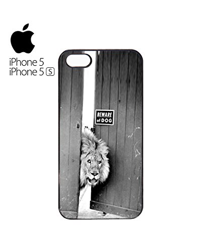 Beware Of The Dog Animal Lion Wild Mobile Cell Phone Case Cover iPhone 6 Plus Black Blanc