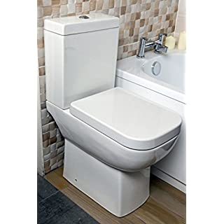 Appleby Close Coupled Comfort Height Toilet & Soft Close Seat White Square