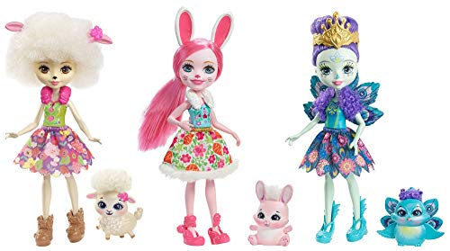 Enchantimals Pack de 3 muñecas, (Mattel Spain FMG18)