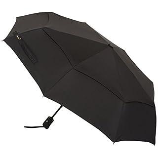 AmazonBasics Automatic Travel Umbrella with Wind Vent, Black
