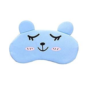 Supvox Kühlende Augenmaske für Schlafaugen-Eisbeutel wiederverwendbare kalte Schlafmaske mit Plüsch (hellblau)