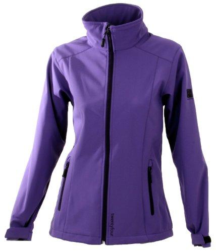 Twentyfour FM Veste Softshell Femme - Softshell veste légère, design fonctionnel Violet - lilas
