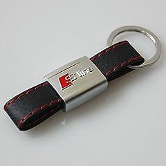 Idea Regalo - S-line - Portachiavi serie Audi in metallo cromato e Falso-pelle