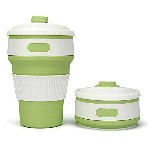 Hoovo Zusammenklappbare Reisebecher Faltbare Silikon-Kaffeetasse Wiederverwendbarer Tasse