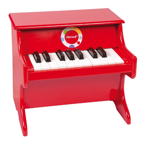 Imagen principal de Janod - Confetti, Piano de juguete de madera, rojo (J07622)