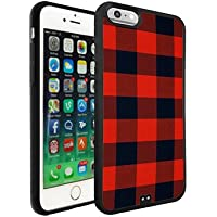 Characteristic Iphone 6/6s Custodia/Case Red and Black Checks for Man Woman Drop Resistance Iphone 6s Custodia/Case Red and Black Checks Printed Design