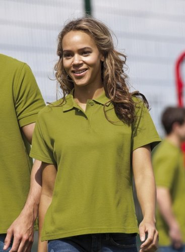 Russell Collection - Polo -  - Manches courtes Femme Vert cactus