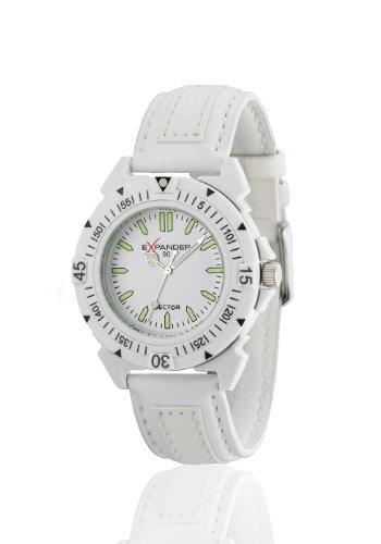 Sector R3251197045 - Reloj unisex de cuarzo, correa de textil color blanco
