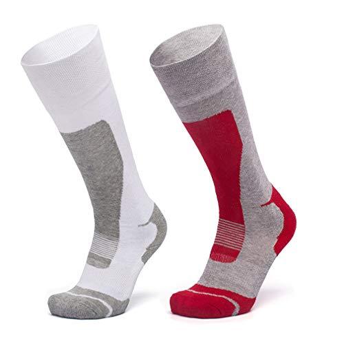 LORYLOLY 2 Paar Skisocken für Herren Damen Jungen Mädchen, Unisex DracheThermal Winter Kalb Socken für Erwachsene Kinder, Dicke Warme Kniehoch Schneesocken für Skifahren Skaten Snowboard -