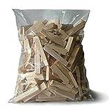 Paquete de 15kg de trozos pequeños de madera para encender fuegos, hogueras en chimeneas abiertas, estufas de leña, etc.