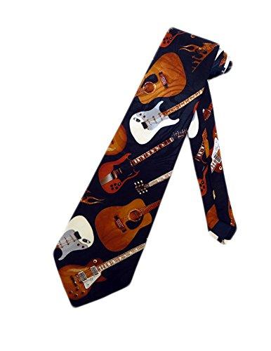 Steven Harris chitarra elettrica e acustica, colore: blu Navy, cravatta, cravatta, taglia unica, per il