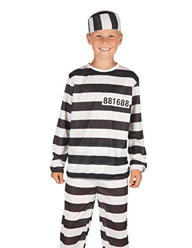 Boland 82183 - Kinderkostüm Gefangene, (Gefangener Up Kostüm Make)
