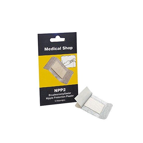 NPP2® Brustwarzenpflaster, Sport, Joggen, Pflaster, Brustwarze, latexfrei, 10 St