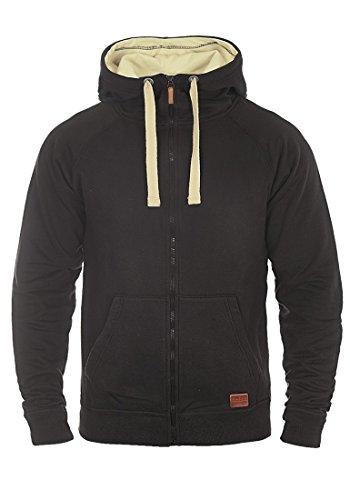 BLEND Aidoo - Felpa Con Zip da Uomo, taglia:L;colore:Black (70155)