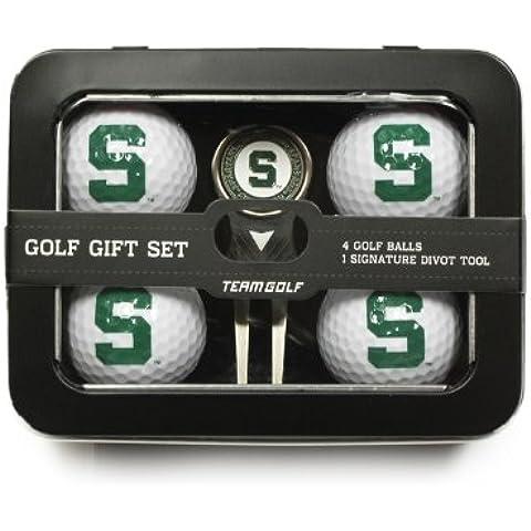 NCAA Michigan State University Golf Ball (Set of 4) by Team (Michigan State Divot)