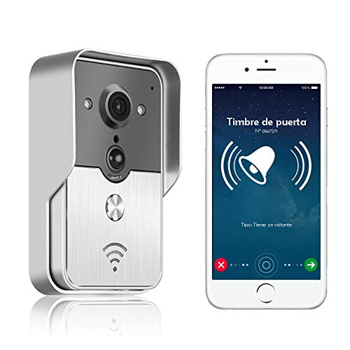 Nudito kit videocitofono wifi n1. intercom citofono wireless controllato da cellulare con funzione di sorveglianza. unità esterna in lega di alluminio con telecamera a infrarossi e visione notturna