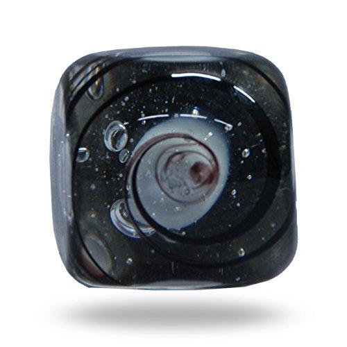 Glas Jairo quadratisch schwarz Swirl Schrank Schublade Knauf Home Decor Tür Ziehen Glas-massagegerät Rosa