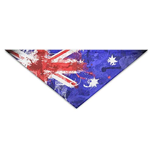 Australia Flag Art Painting Dog Bandanas Scarves Triangle Bibs Scarfs Soft Basic Neckerchief Cat Collars Pet Costume Accessory Kerchief for Large&Medium&Small Puppy