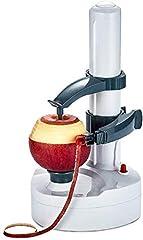Idea Regalo - Trinwin Pelapatate Elettrico in Acciaio Inossidabile, sbucciatore Rotante Automatico per Frutta e Verdura  (White)
