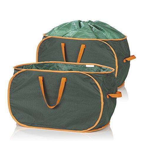 *PRIMA GARDEN Verschließbare Gartenabfalltasche 333 Liter | 2er Set | Reißfest | Wasserabweisend | 3 Tragegriffe | Ideal für Laub, Gras & Beschnitt*