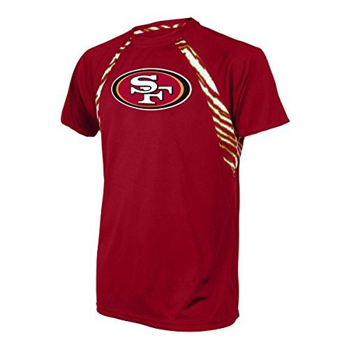 Zubaz Herren T-Shirt, offizielles Lizenzprodukt, einfarbig, Herren, Men's NFL Zebra Accent Print Team Logo Short Sleeve Raglan T-Shirt, Zebra Accent Raglan, Small