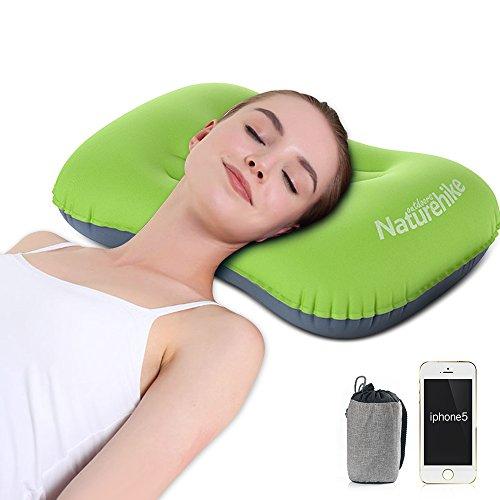 Camping Kissen Leichtes Reisekissen Aufblasbares Yarrashop Grün soft Inflatable pillow Kopfkissen Nackenkissen Camping Pillow for Camping, Reise, Outdoor