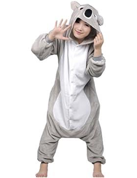 Autek, tuta, travestimento da animale, unisex, con cappuccio, costume, pigiama (PJ-20) Gris Koala M