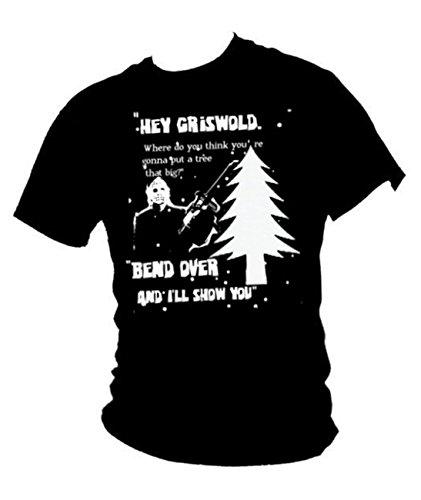 """In 'Urlaub Chevy Chase-Großer Baum """"Herren-t-shirt Schwarz - Schwarz"""